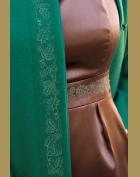 zelené paleto detail