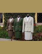zelená, hnědá  i slonovinová sukně 1