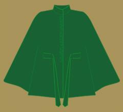 Wollpaletot - Grün mit schärferem Grün