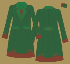 Woolen coat - Green green brown