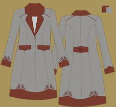 Woolen coat - Grey brown brown