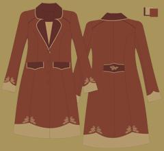 Woolen coat - Brown 2x cappuccino