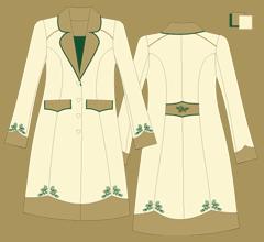 Woolen coat - Ivory cappuccino green