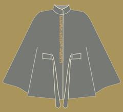 Wollpaletot - Grau mit Elfenbein und Cappuccino