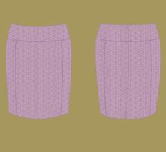 Röcke - Violett mit Cappuccino
