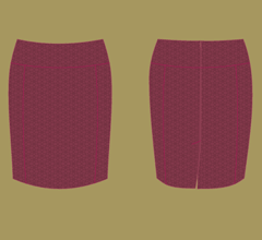 Skirt - Bordeaux – cappuccino