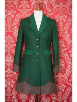 Woolen coat - Green green brown