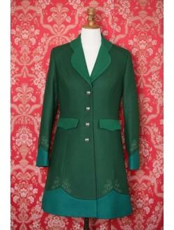 Woolen coat - Combination of 3 greens