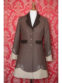 Woolen coat - Brown 2x cappuccino