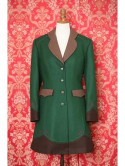 Woolen coat - Green brown brown