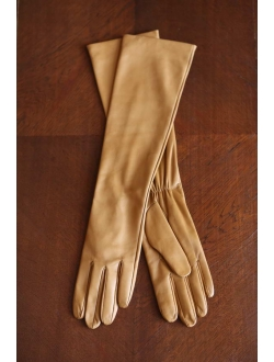 Caramel leather gloves
