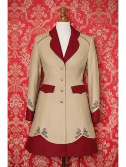 Woolen coat - Cappuccino bordeaux brown