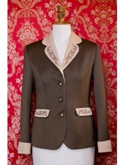 Jacket - Milk chocolate, cappuccino and ivory