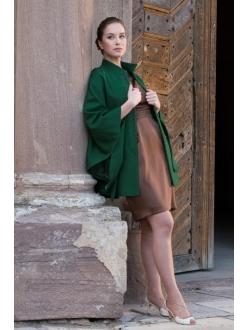 Woolen paletot - Green tone on tone